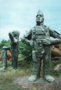 Alien sculptures Boputhatswana