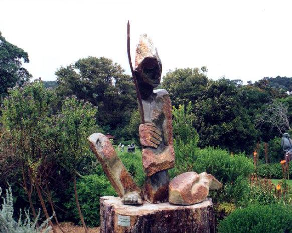 Kirstenbosch sculpture bushman