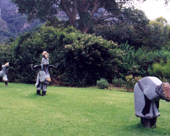 Kirstenbosch sculpture children