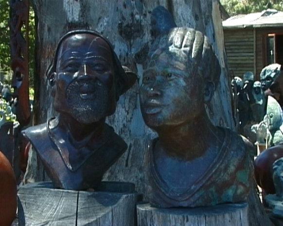 Kirstenbosch sculpture couple