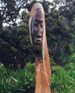 Kirstenbosch sculpture face